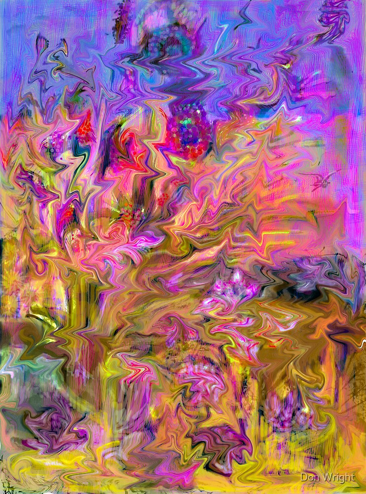 Zigzags Abstract by Don Wright