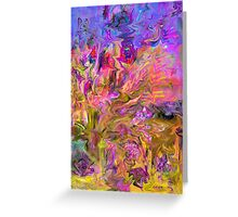 Zigzags Abstract Greeting Card
