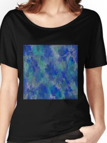 Painterly Midnight Floral Abstract Women's Relaxed Fit T-Shirt