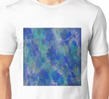 Painterly Midnight Floral Abstract Unisex T-Shirt