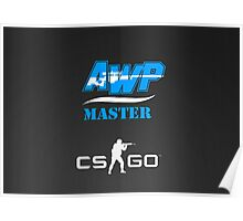 CS:GO AWP Master logo HQ Poster
