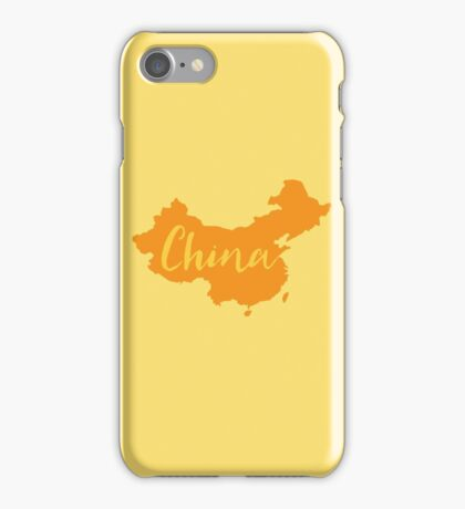 China (fancy) with country map iPhone Case/Skin