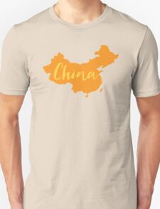 China (fancy) with country map Unisex T-Shirt