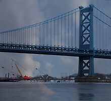 Ben Franklin Bridge by Sharon Batdorf