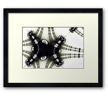 Rails and Crinkly Bows Framed Print