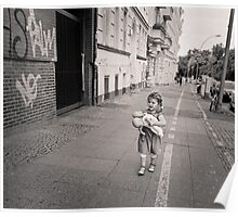 Berlin, Young girl and her doll Poster