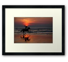 gallop at sunset Framed Print