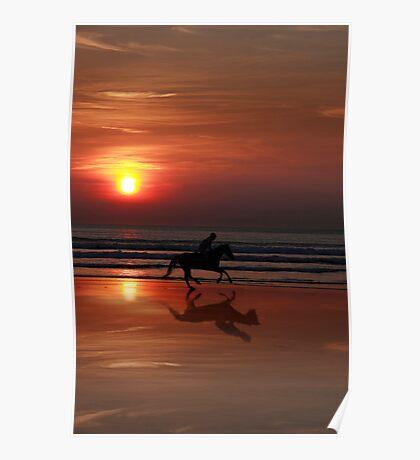 galloping shadow racing Poster