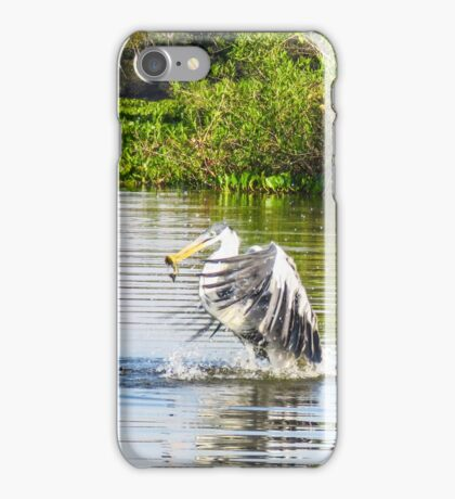 Cocoi Heron with catch iPhone Case/Skin