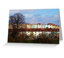 Coloured Houses Greeting Card
