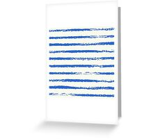 Navy stripes Greeting Card