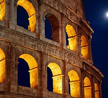 Colosseum and Moon by Inge Johnsson
