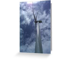 Wind Power Edge Greeting Card