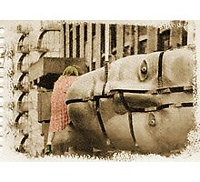 girl with designs Photographic Print