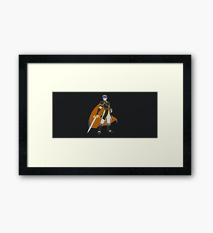 Marth (Black) - Super Smash Bros. Framed Print