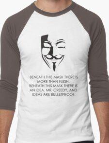 V For Vendetta Men's Baseball ¾ T-Shirt