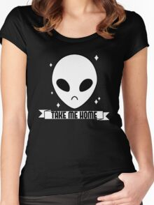 SPARKLING ALIEN - Take me home Women's Fitted Scoop T-Shirt