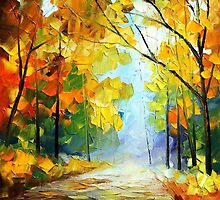 Path - original oil painting on canvas by Leonid Afremov by Leonid  Afremov