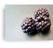Colourful blackberries Canvas Print