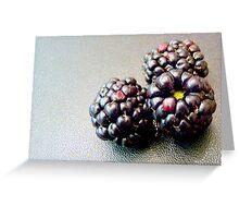 Colourful blackberries Greeting Card