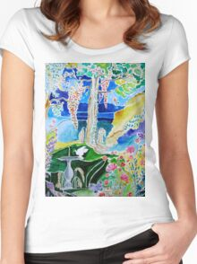 PARADISE REGAINED Women's Fitted Scoop T-Shirt