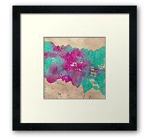 Cosmic Waves - Abstract Render Framed Print