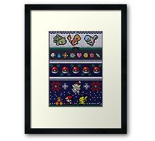 Cute Video Game Pixel Christmas Framed Print