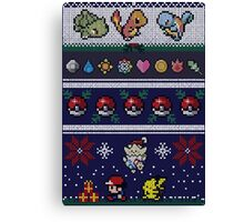 Pokemon Pixel Christmas Jumper Canvas Print