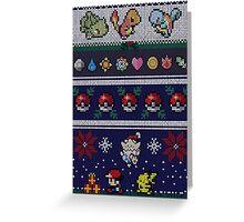 Pokemon Pixel Christmas Jumper Greeting Card