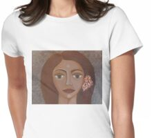 Sad-eyed woman Womens Fitted T-Shirt