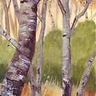 Trees On The Common by Val Spayne