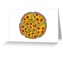 Satan Loves Pizza Greeting Card