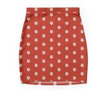 RoseRed Skirt with 8-Bit SnowWhite Apple Blossoms Mini Skirt