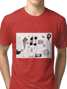 DRAWING By Moma Bjekovic Tri-blend T-Shirt