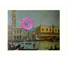 Busy Waterway Art Print