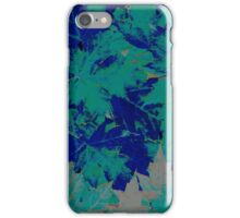 Blue & Green Autumn Leaves iPhone Case/Skin