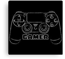 Gamer (distressed look) Canvas Print