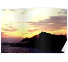 Sunset docks Poster