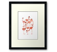 Flamingo's Framed Print