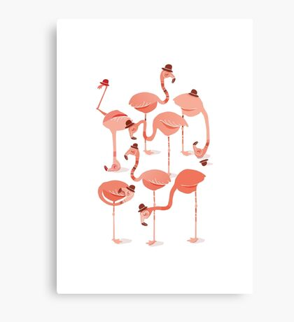 Flamingo's Canvas Print