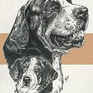 Greater Swiss Mountain Dog Father and Son by BarbBarcikKeith
