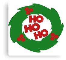 ho ho ho Christmas wreath Canvas Print
