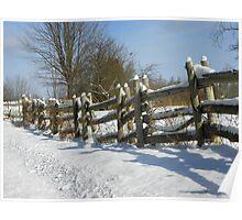 Back Roads Fence Poster