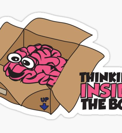 Thinking inside the box Sticker