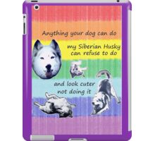 Celebrate your husky's independent spirit! iPad Case/Skin