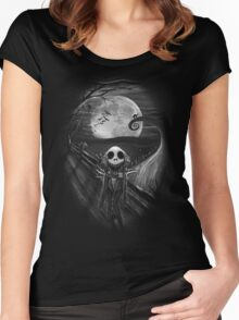 The Scream Before Christmas Women's Fitted Scoop T-Shirt
