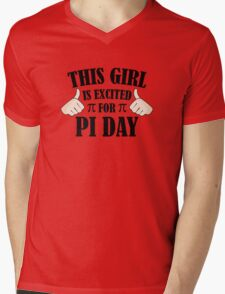 This Girl Is Excited For Pi Day Mens V-Neck T-Shirt