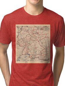 World War II Twelfth Army Group Situation Map June 23 1945 Tri-blend T-Shirt