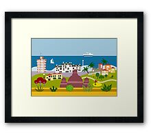 Sea And Golf Framed Print