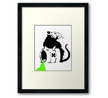 Banksy - Toxic Rat Framed Print